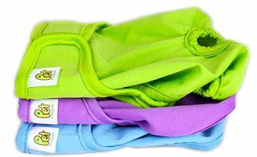 Reusable Dog Nappies, 3 Packs, Sanitary Pet Diapers, Original Design/XS
