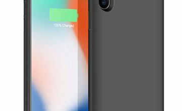 Trswyop Battery Case for iPhone X/XS, 【6500mAh High Capacity 】 Charger Case for iPhone X/XS Protective Portable Charging Case Rechargeable Extended Battery Pack (5.8 inch) - Black