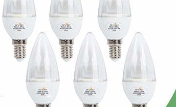 BESLAM 5W LED Chandelier Bulbs LED Candle Lights E14 LED Can