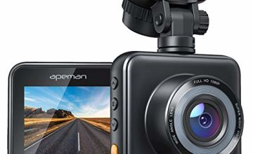 APEMAN Mini Dash Cam 1080P Full HD, Dash Camera for Cars with Super Night Vision, 170° Wide Angle, Motion Detection, Parking Monitoring, G-Sensor, Loop Recording