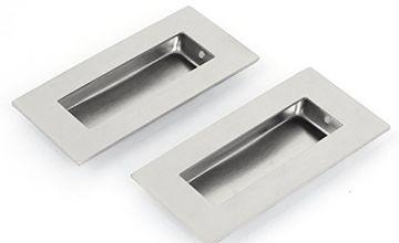 Sourcingmap® 52mmx102mm Recessed Flush Pull Finger Insert Door Handle 2PCS