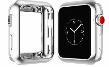 YoLin Apple Watch Series 3 Screen Protector, iwatch Cover Soft Transparent TPU All-around Protective Case For Apple Watch Series 3 42mm (1 Silver + 1 Transparent)