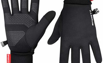 Cevapro Thermal Gloves for Women, Winter Gloves Thin Warm Gloves Anti-slip Touch Screen Gloves for Cycling Running Driving Biking Motorcycle Working
