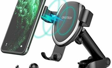 CHOETECH 7.5W Fast Wireless Car Charger Mount Compatible with Apple iPhone SE/11/11 Pro/11 Pro Max/XR/XS/XS Max/X/8/8+,10W for Galaxy S20+/Note 10+/S10/S9/S8 Gravity Wireless Car Charger Phone Holder