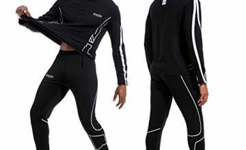 devembr Thermal Underwear Set for Men, Thermals Ski Underlay