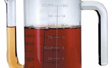 MasterClass Glass Gravy/Fat Separator Jug, 500 ml (17½ fl oz)