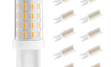 Ascher 10 pack G9 LED Bulbs , No Flicker, No Strobe, 3W, Equivalent to 40W Halogen Bulbs, 400LM, Warm White, AC 110-240V, Energy Saving Light Bulbs