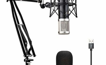Condenser Microphone VeGue USB Recording Mic Kit with 24mm Diaphragm, Professional Sound Chipse, 192kHz/24Bit Plug & Play for Podcast, Game, PC Karaoke, Voice Over