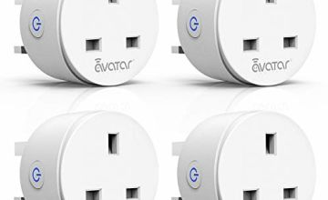 Smart Plug WiFi Ale xa Plugs Mini Outlet Wireless Socket 4 Pack Works with Ale xa/Google Home/IFTTT by Avatar Controls Remote Control Timer Energy Monitoring No Hub Required