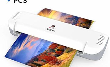 A4 Laminator, ABOX 2019 Upgrade Thermal Laminator Machines for Home Office School Lamination with 12 Laminating Pouches & Jam Release Function