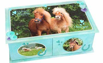 Depesche 10432 Jewellery Box Horses Dreams Turquoise