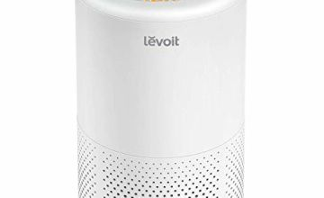 Levoit Air Purifiers for Home Bedroom with True HEPA Filter, 2/4/8H Timer, Sleep Mode, Gentle Night Light, Display Off, Ozone Free, Quiet Air Filter for Allergies, Smoke, Pet, Pollen, Dust, Vista 200