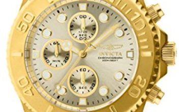 Invicta 1774 Pro Diver Men's Wrist Watch Stainless Steel Quartz Champagne Dial