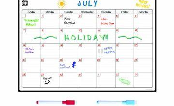 Smart Panda Monthly Magnetic White Board Fridge Calendar