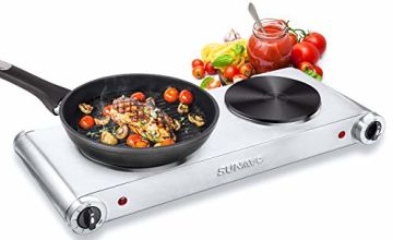 SUNAVO Hot Plate Electric Hob Portable for Cooking, Hotplate Cooktop Burner