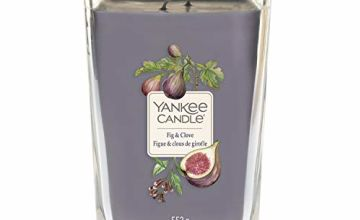 Save on Yankee Candle Elevation Collection Large 2-Wick Square Scented Candle with Platform Lid, Fig and Cloves and more