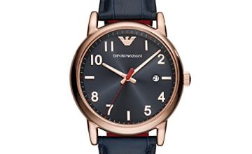 Save on Emporio Armani Mens Analogue Quartz Watch with Leather Strap AR11135 and more