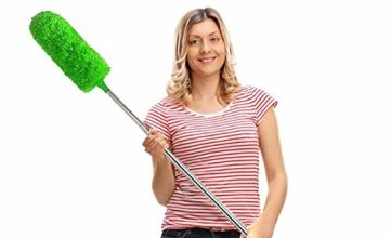 "Feather Duster,Duster Extendable for Cleaning with Telescoping Extension Pole 30 to 100"" Extendable Duster for Cleaning High Ceiling Fan,Blinds, Baseboards,Cars"