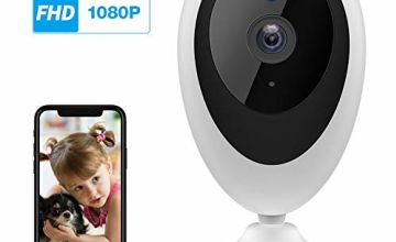 Wansview WiFi IP Camera, 1080P Baby Camera K5, Pet Camera Monitor Wireless Home Security Camera with Motion Detection 2-Way Audio Night Vision, Works with Alexa (White)