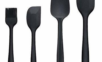 Binhai Silicone Spatula Basting Brushes Pastry brush Set - 4 Pcs Non-Stick Rubber Spatulas With Stainless Steel Core Kitchen tools Heat-Resistant Spatula Cooking Cream scraper BBQ Brush