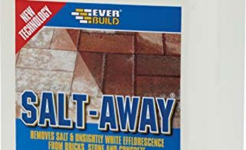 Everbuild Salt-Away Treatment To Remove Salt and Efflorescence From Bricks, Stone and Concrete Ready To Use, 5 Litre