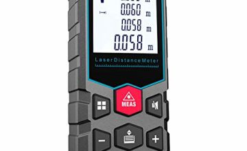 Mileseey Laser Measure, 40M/131Ft Laser Distance Meter,±2mm Accuracy Laser Measure Device with Pythagorean Mode, Distance, Area and Volume Measurement with Mute Function LCD Backlit