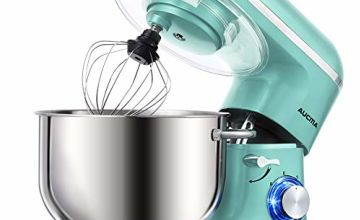 Aucma Stand Mixer, 6.2 L Stainless Steel Mixing Bowl, 6 Speed 1400W Tilt-Head Food Mixer, Kitchen Electric Mixer with Dough Hook, Wire Whip & Beater