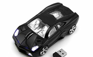3C Kingdom Cool Sport Car Shape 2.4Ghz Wireless Mouse 3 Butt