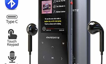 "MP3 Player, 16GB Player with Bluetooth 4.2, Music Player with FM Radio, One Click Recording, 2.4"" Screen, Built-in Speaker, HiFi Lossless Sound, Support up to 128GB(Earphone, Sport Armband)"