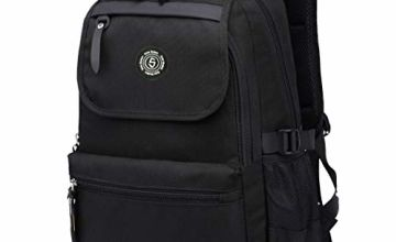 SUPA MODERN® Unisex Nylon School Bags Waterproof Hiking Backpack Cool Sports Backpack Laptop Rucksack School Backpack Black