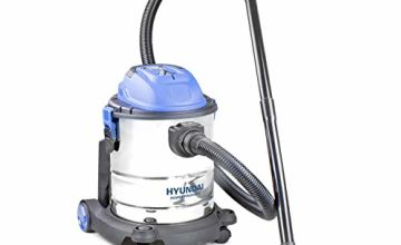 Hyundai HYVI2012 1200 Watt 3 in 1 Multi Purpose 20 Litre Wet & Dry Electric Vacuum Cleaner with Blower Function, Stainless Steel Tank, Bagged Or Bagless Options, Blue, Silver