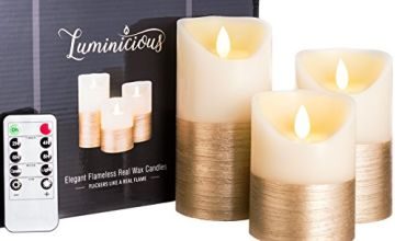 Luminicious Flameless Flickering Candles | Battery operated realistic moving LED flame