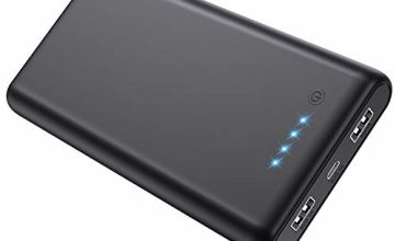 Ekrist Power Banks, 26800mAh Portable Phone Charger Dual USB Fast Charge Power Bank Ultra Compact External Battery Pack with 4 LED Lights for iPhone Samsung Mobile Phones