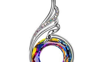 Kate Lynn Nirvana of Phoenix Crystal Pendant 925 Sterling Silver Necklace Gifts for Mum Her Birthday Friendship Gifts Ladies Wedding Gifts Jewellery Box Packaging Women Jewellery Antibacterial