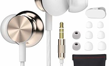 Betron BS10 Earphones, In Ear Headphone, Noise Isolating Earbuds, Powerful Bass Sound, 3.5mm Jack Compatible with iPhone, iPod, iPad, Samsung, Nokia, HTC, Mp3 Players etc