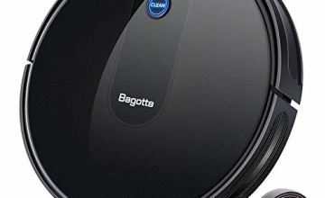 Bagotte BG600 Robot Vacuum Cleaner, Upgraded 1500Pa Strong Suction, 2.7in Thin, Super Quiet, Smart Self-Charging Robotic Vacuum Cleaners, Auto Sweeper for Hardwood Floor Carpet Tile Pet Hair Care