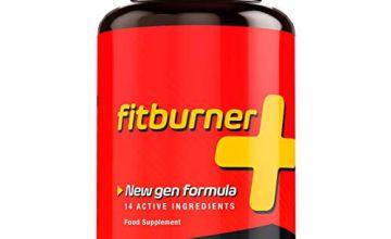 Fitburner+   Fast Effective Fat Burner   Diet Pills   Appetite Suppressant Pills for Natural Weight Loss   14 Active Ingredients   Food Supplement 90 Vegan Capsules