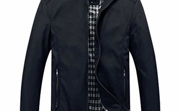 YOUTHUP Mens Jackets Lightweight Casual Bomber Jacket Vintage Scooter Outwear Jackets and Coats