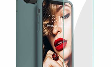 JASBON Case for iPhone 11 Pro,Silicone Shockproof Phone Case with Tempered Screen Protector Gel Rubber Drop Protection 5.8 inch Cover for iPhone 11 Pro/iPhone XI Pro 2019
