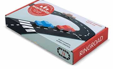 waytoplay 12Ring Road, Building Set, Black with White Striping