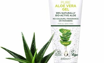 PraNaturals Pure Aloe Vera Gel 200ml – Soothing & Hydrating, Rich in vitamins, Treats inflammations, bug bites and minor burns, For all skin types, Cruelty-free & Vegan