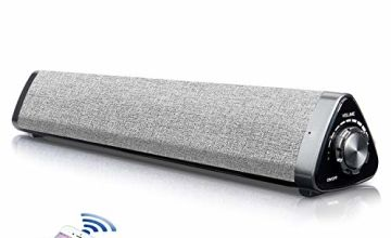 Soundbar, Fityou Soundbars for TV 2.0 Channel Bluetooth Soundbar Speaker and Wired Home Theater Surround Soundbars with Remote Control/RCA/AUX/Opt/USB/Subwoofer,Separable & Detachable,Wall Mountable