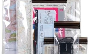 Lifeventure Unisex's DriStore LocTop Bags - For Valuables Waterproof case, Clear, Medium