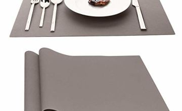 """AINIMI Large Silicone Mats Table Mats Placemats,17.7""""x12.6"""" Inches, Set of 2"""