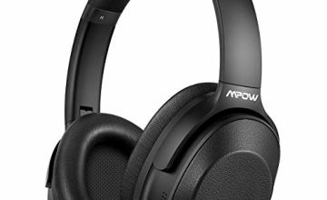 Mpow Hybrid Noise Cancelling Headphones, Bluetooth 5.0 Hi-Fi Stereo Wireless Headphones Over Ear with Mic, Foldable Headset with Pressure-relieving Earpads for Home Office Online Class Cellphone PC TV