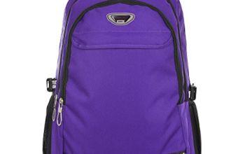 SUPA MODERN® Unisex Nylon School Bag Waterproof Hiking Backpack Cool Sports Backpack Laptop Bag (Purple XL)