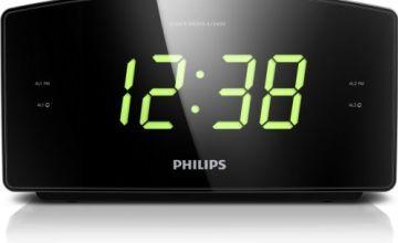 Philips AJ3400 Wake-Up Alarm Clock with Radio