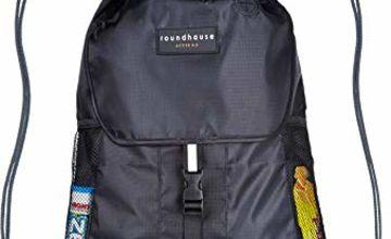 Premium Quality 5 Pocket Waterproof Unisex Gym sack Drawstring Bag Swimming Bag School PE Sackpack Backpack Gym Bag Small Sports Rucksack w/ High reflective buckle strap, walking ,Hiking Bag suitable
