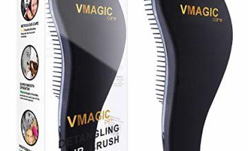 VMAGIC High Quality Detangling Brush - glide the Detangler Brush through Tangled hair - Best Brush/Comb for Women, Girls, Men & Boys - Use in Wet and Dry Hair (Rose Red)