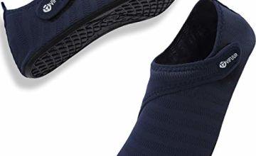 VIFUUR Water Sport Shoes Womens Mens Adjustable Mesh Outdoor Barefoot Aqua Yoga Socks for Outdoor Beach Surfing